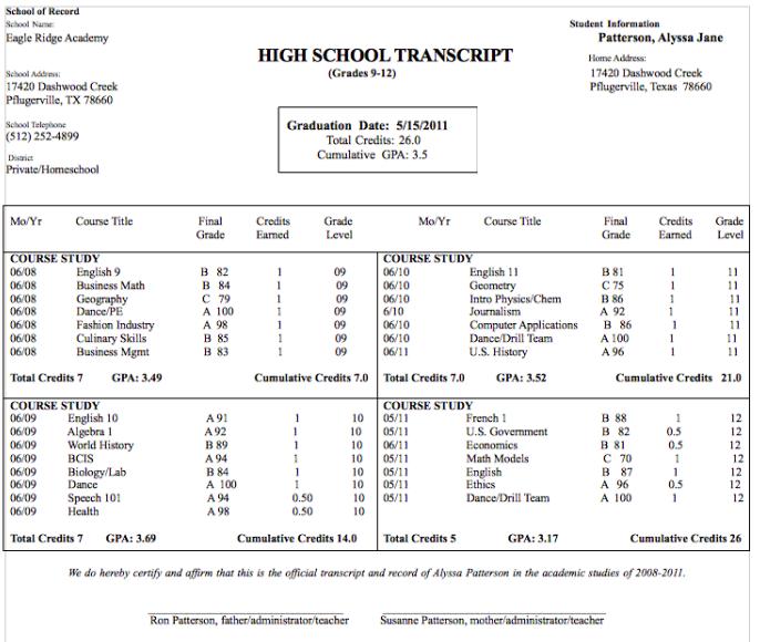 fake high school